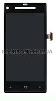 Дисплей с тачскрином для HTC C620e Windows Phone 8X черный (Оригинал)