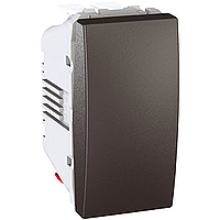 Переключатель Schneider-Electric Unica 1-клавишный проходной графит. MGU3.103.12