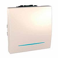 Перемикач Schneider-Electric Unica 1-клавішний прохід. 16А з інд. слонова кістка. MGU3.263.N 25