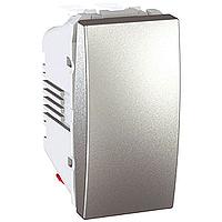 Перемикач Schneider-Electric Unica 1-клавішний перехресний алюміній. MGU3.105.30