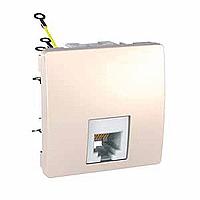 Розетка Schneider-Electric Unica телефонна 6 конт. RJ11 слонова кістка. MGU3.497.25