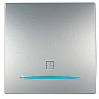 Таймер Schneider-Electric Unica 8А нажимной алюминий. MGU3.535.30