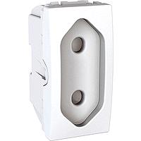 Розетка Schneider-Electric Unica плоская 10А белая. MGU3.031.18