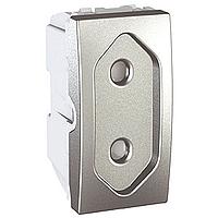 Розетка Schneider-Electric Unica плоская 10А алюминий. MGU3.031.30