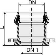 Патрубок НПВХ фланец-раструб
