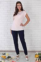 """Стильные льняные брюки для беременных """"Dakota"""", темно-синие, фото 1"""