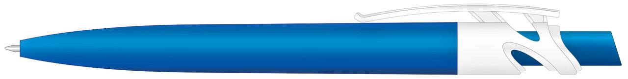 Ручка пластиковая VIVA PENS Maxx Solid бело-синяя