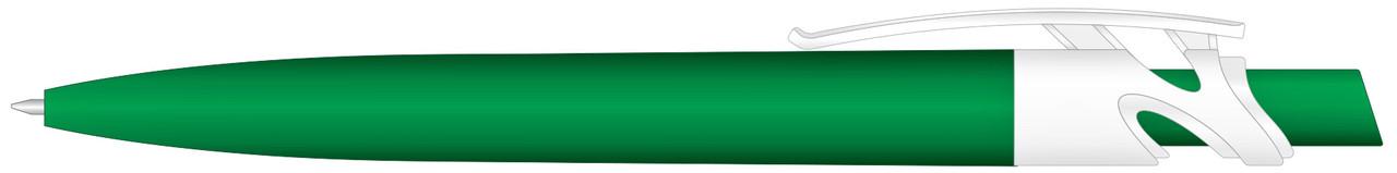Ручка пластиковая VIVA PENS Maxx Solid бело-зеленая