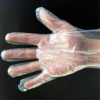 Одноразовые полиэтиленовые перчатки(уп.-100 шт)
