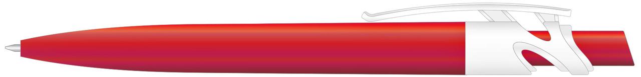 Ручка пластиковая VIVA PENS Maxx Solid бело-красная