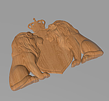 Код КА 3. Резной деревянный декор для мебели. Картуш, фото 2