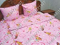 Детское полуторное постельное белье Winx (0534)