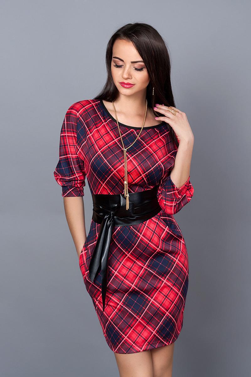 58ca6e18e11 Стильное платье в крупную клетку  продажа