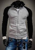 Стильная мужская Олимпийка черные  рукава