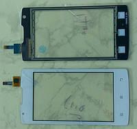 Сенсорний екран для смартфону Lenovo A1000, тачскрін білий
