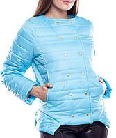 """Весенне-осенняя женская куртка """"Беверли блюз"""", размеры S,M,L"""