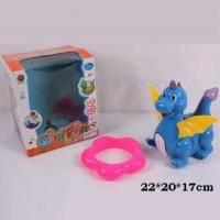 """Музыкальная игрушка """"Динозавр синий"""""""
