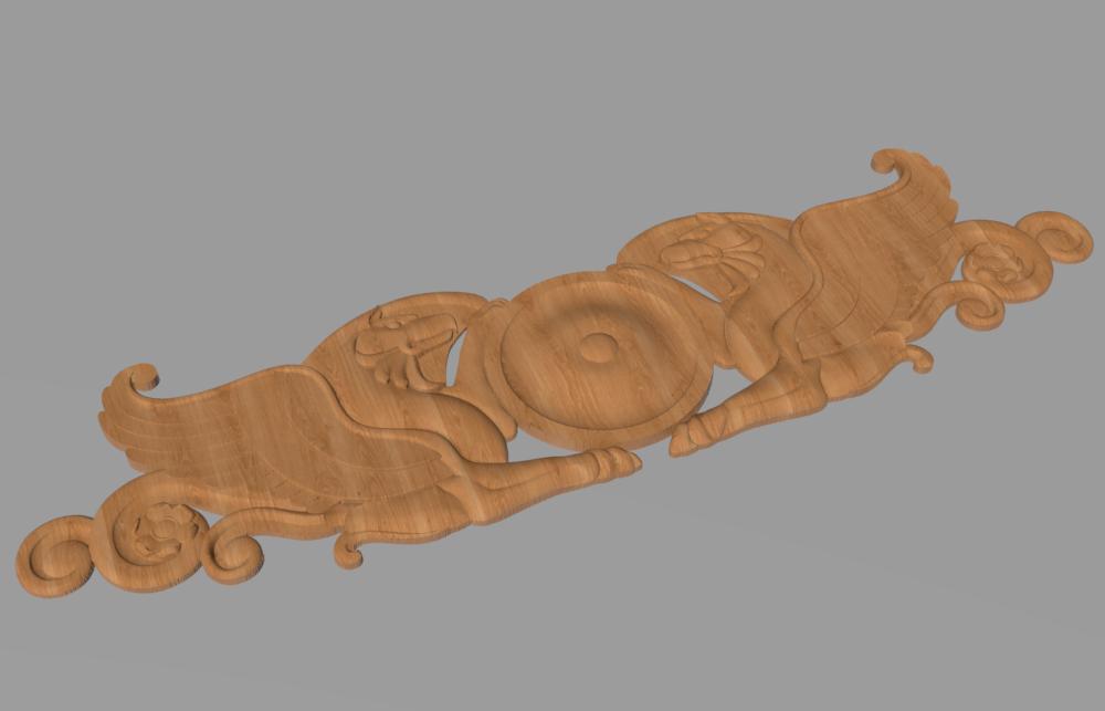 Код КА 4. Резной деревянный декор для мебели. Картуш