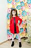 Платье для девочки красное
