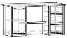 Стол письменный Валенсия 1Д 3Ш 760х1400х680мм Мебель-Сервис, фото 2