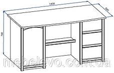 Стол письменный Валенсия 1Д 3Ш 760х1400х680мм Мебель-Сервис, фото 3