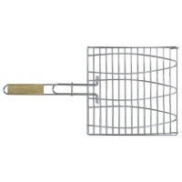 Решетка-гриль для рыбы, 28х28 см, с ручкой дерево, 55 см