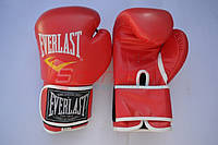 Перчатки боксерские (модель EVERLAST) кож/зам. Красные, 10 унц.