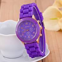 Женские наручные силиконовые часы Geneva purple
