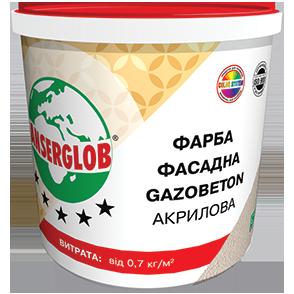 Краска структурная акриловая фасадная Anserglob GAZOBETON 28 кг