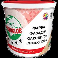 Краска структурная силиконовая фасадная Anserglob GAZOBETON 14 кг