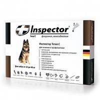 Комплекс Инспектор (Inspector), капли от внешних и внутренних паразитов для собак от 25 до 40 кг, 1 ампула