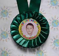 Медали выпускникам с фотографиями Тёмно-зеленые