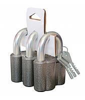 Набор навесных замков ЧАЗ ВС2-М1 (3 замка+6 ключей)