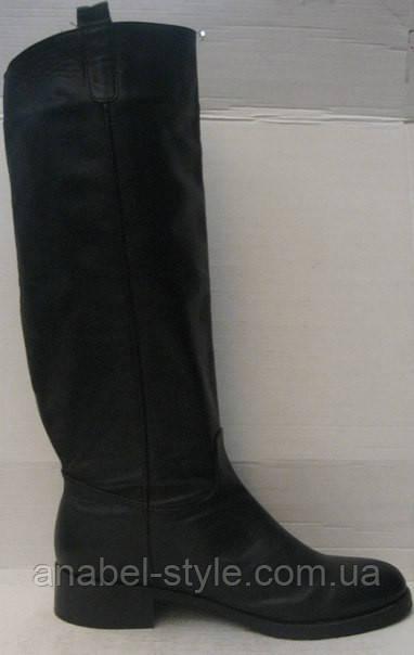 Сапоги женские зимние чёрные натуральная кожа код 170.у