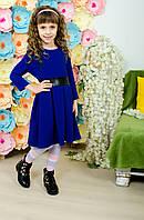 Стильное платье  для девочки электрик, фото 1