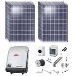 Комплект сетевой солнечной электростанции, мощность 3 кВт