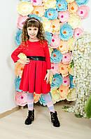 Стильное платье  для девочки красное, фото 1