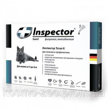 Комплекс Инспектор (Inspector), капли от внешних и внутренних паразитов для кошек от 4 до 8 кг, 1 ампула