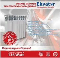 Биметаллический радиатор Ekvator 500/80 10 секции, фото 1