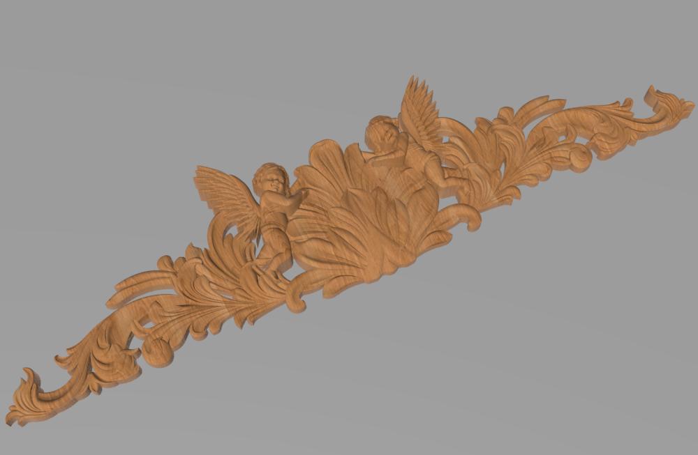 Код КОР8. Деревянный резной декор для мебели. Короны