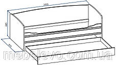 Кровать Валенсия 900 тапчан 685х2025х975мм  Мебель-Сервис, фото 2