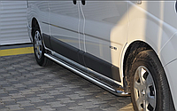 Боковые пороги (подножки) Opel Vivaro /короткая база с площадкой