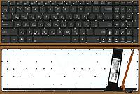 Клавиатура для ноутбука Asus N56 N56DP N56JR N56VZ G56JK G56JR N76 N76VB N76VJ русская раскладка, с подсветкой