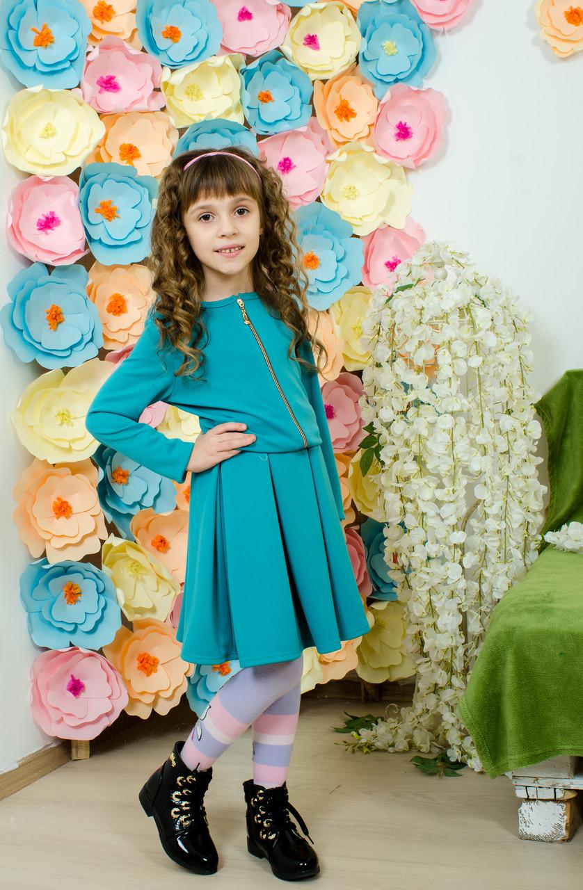 Костюм для девочки юбка и пиджак мята