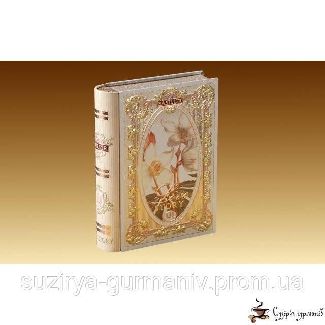 """Зеленый чай Basilur """"Чайная книга. История Любви. Том 3""""/Tea Book. Love Story III"""" 100г ж/б"""