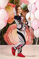 Детский спортивный костюм для девочек с капюшоном