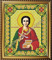 Схема для вышивания бисером Икона Великомученика и Целителя Пантелеймона