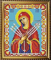 Схема для вышивания бисером Икона Божьей Матери Семистрельная