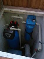 Монтаж системы водоочистки в приямке.
