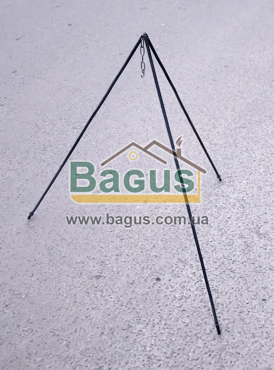 Тренога костровая 1 м для подвешивания казана, в чехле (стальной прут 10мм) (Тр-002)
